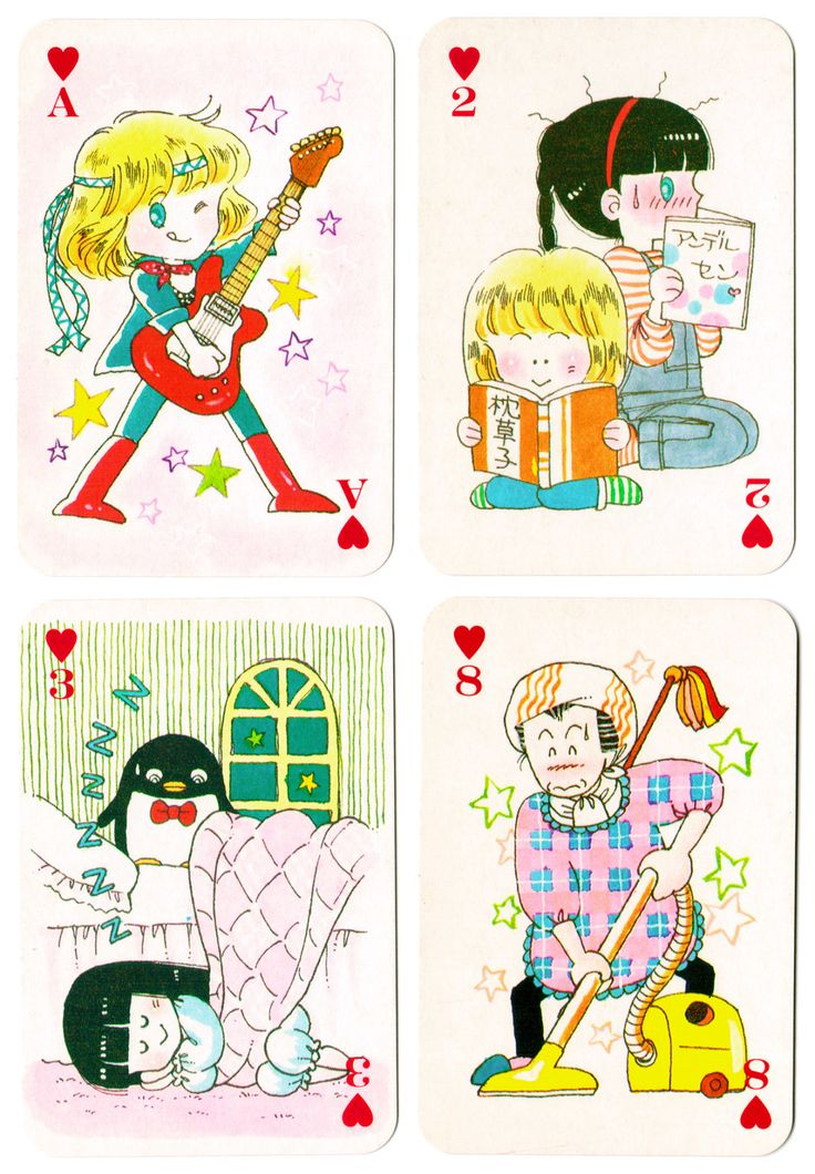 """Tokimeki Tonight"" Ribon furoku ""Idol 4 trump"" playing cards -- December, 1983"