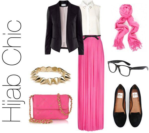 """Hijab Chic"" by fashion4arab ❤ liked on Polyvore"