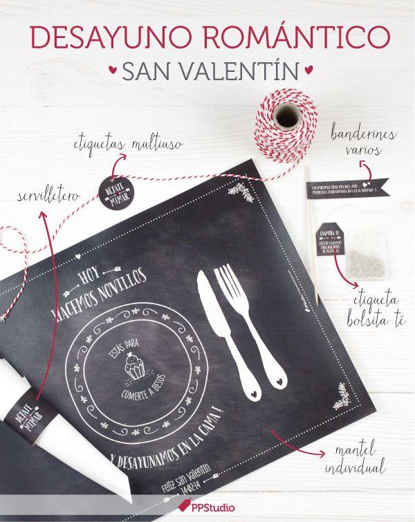 Imprimibles para desayuno romántico PPStudio