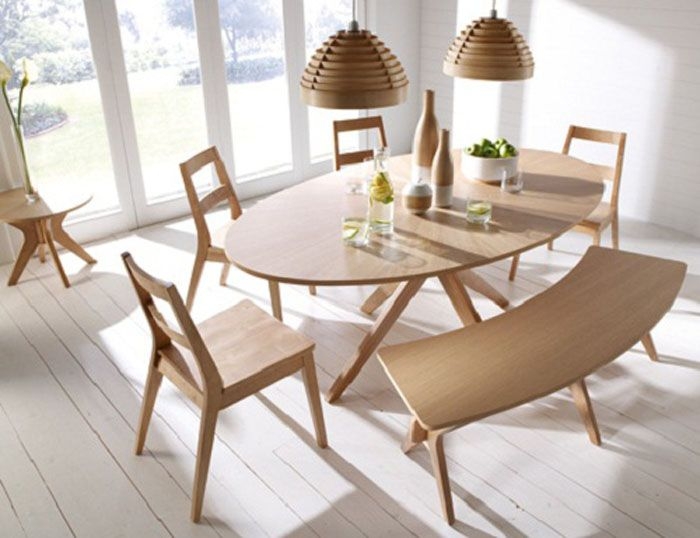 Oval Dining Room Table with Benches - http://quickhomedesign.com/oval-dining-room-table-with-benches/?Pinterest