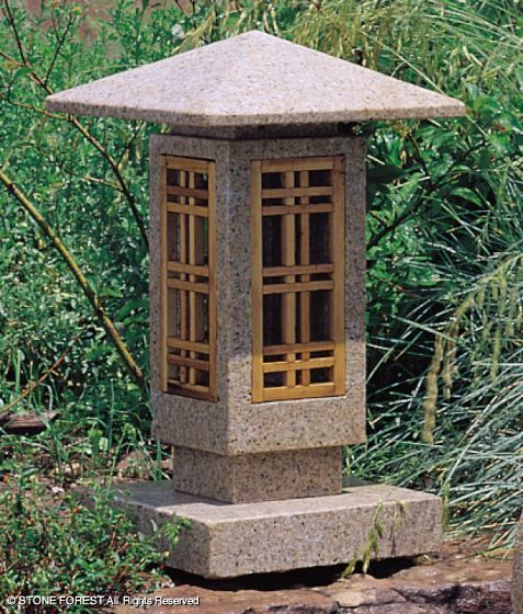 This Stone Forest original lantern is a more contemporary interpretation of the Japanese stone lantern tradition.
