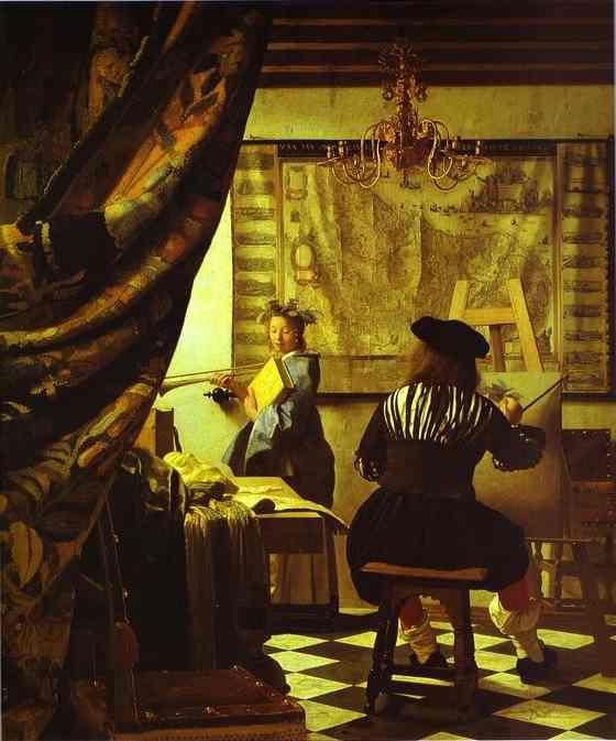 Jan Vermeer. The Art of Painting. c.1666-1673. Oil on canvas. Kunsthistorisches Museum, Vienna, Austria.