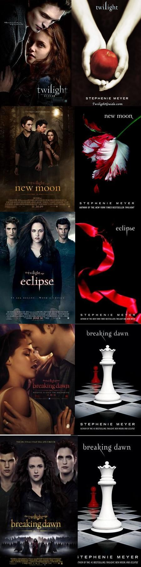 The Twilight Saga by Stephanie Meyer. When seventeen-year-old Bella leaves Phoenix to live with her father in Forks, Washington, she meets an exquisitely handsome boy at school for whom she feels an overwhelming attraction and who she comes to realize is not wholly human.