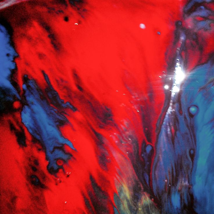 Abstract Acrylic on paper painting