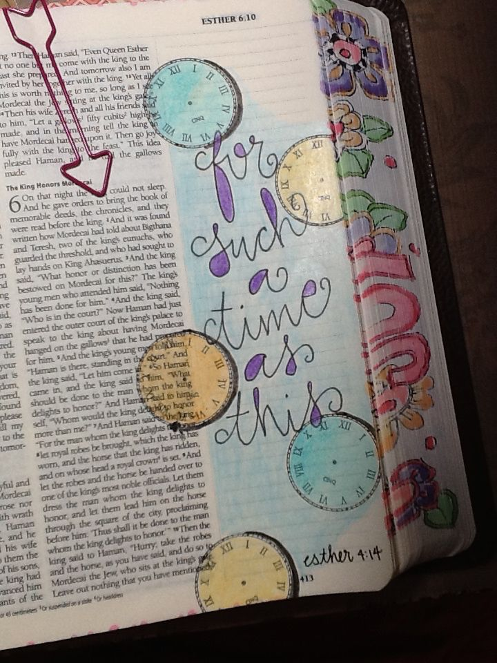 """Esther 4:14 - """"For Such a time as this"""" - Bible Journaling by Nola Pierce Chandler"""