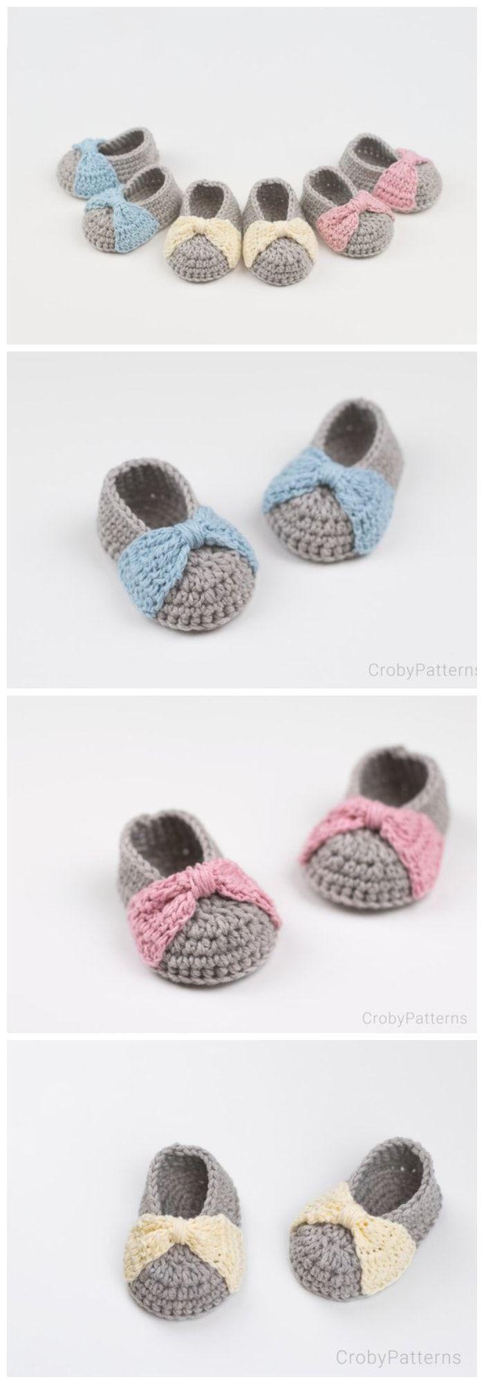 16 Free Crochet Baby Booties | Booties, slippers & baby things ...