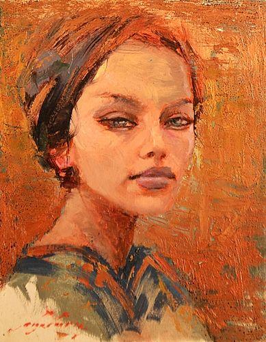 Tiberiu Chelaru (1967- ) Femeie cu turban/ Woman with turban