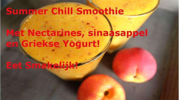 Nectarine sinaasappel smoothie recept met Griekse yogurt!