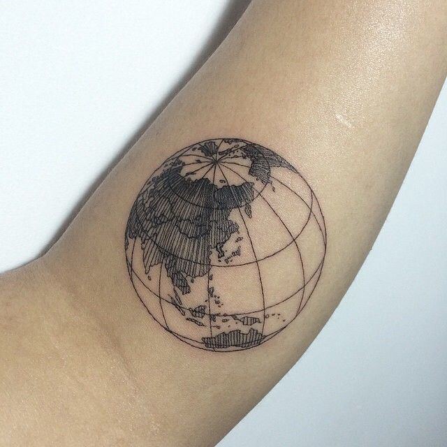 17 best ideas about globe tattoos on pinterest map