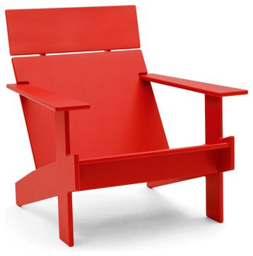Lollygagger Lounge Chair, Apple Red - contemporary - Outdoor Lounge Chairs - Loll Designs