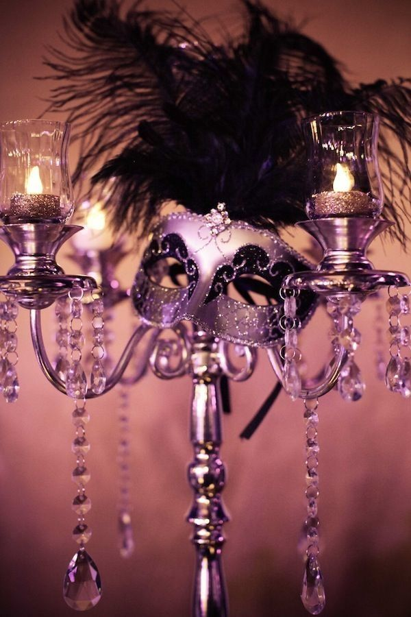 Masquerade party centerpiece...