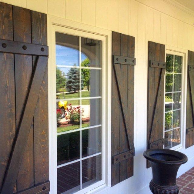 Wood Shutters Rustic Exterior Cedar Shutters Board And Batten Rustic Houses Exterior Rustic Exterior Shutters Exterior