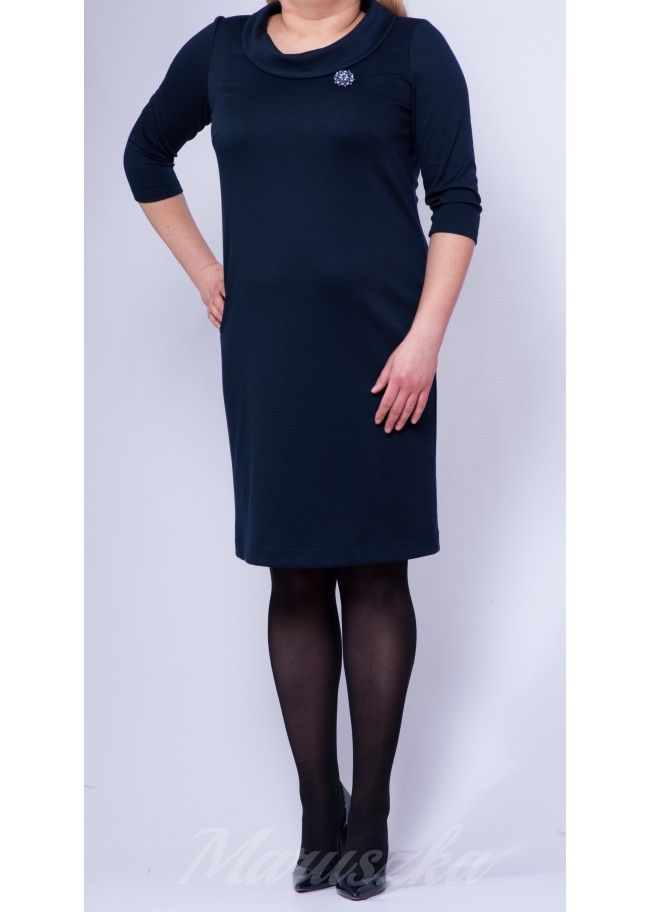 Dress AUDREY DARK BLUE - Plus Size, 40$/EUR + shipping cost