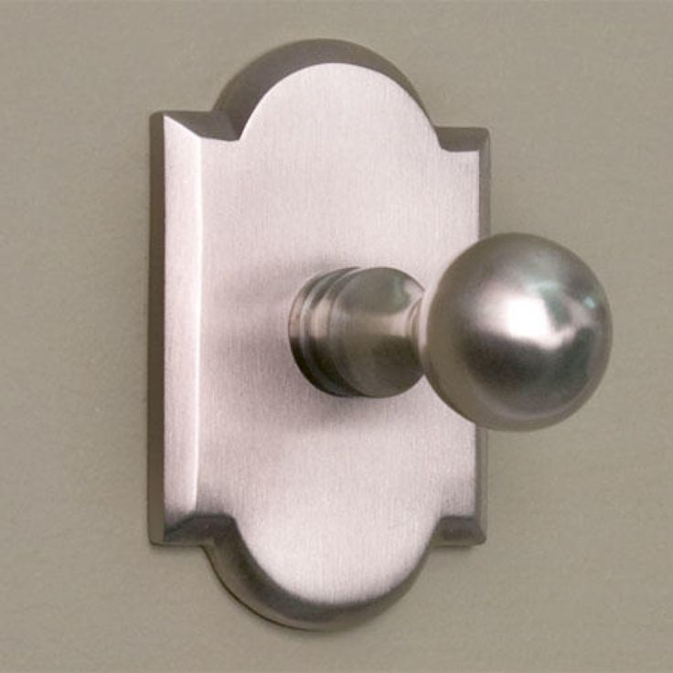 Solid Brass Robe Hook with Decorative Base - Brushed Nickel