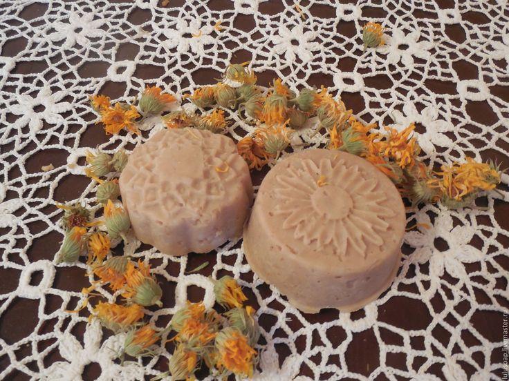 Купить Твердый шампунь Амла, Каштан и Календула - бежевый, натуральная косметика, натуральный шампунь, шампунь