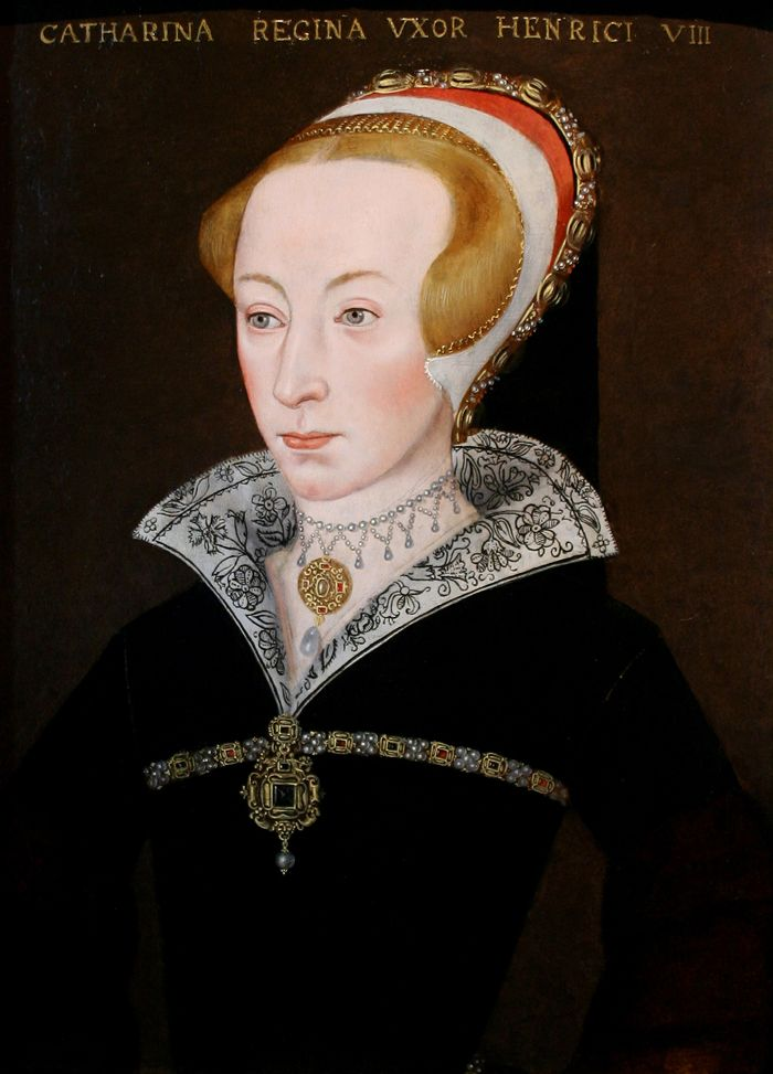 Portrait of Katherine Parr, Queen of England (1512-1548)-This portrait portrays Katherine towards the end of her life. It is ironic that so few portraits of the Queen appear to survive, given that she was the foremost patron of portraiture in mid-Tudor England.