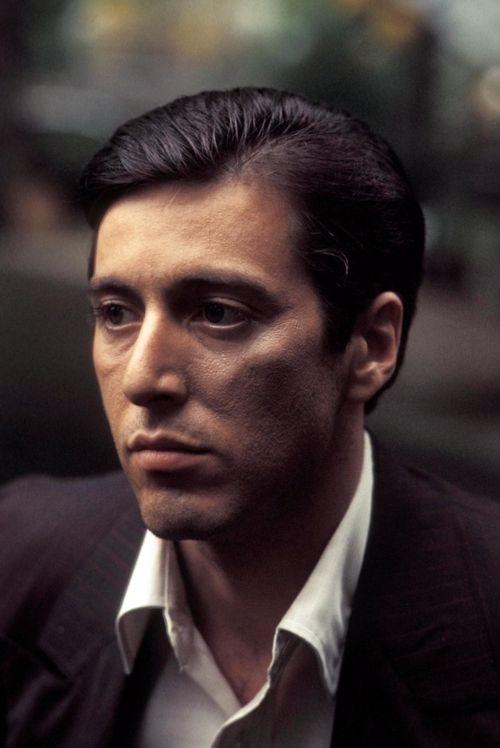 Al Pacino as Michael Corleone...Devastatingly handsome, sexy as hell, and enigmatic... Swoon. Il Capo di tutti capo.