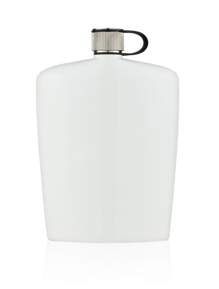 Piersiówka biała - 160 ml - Nuance - DECO Salon. elegant and useful gift for a man. #nuance #giftidea