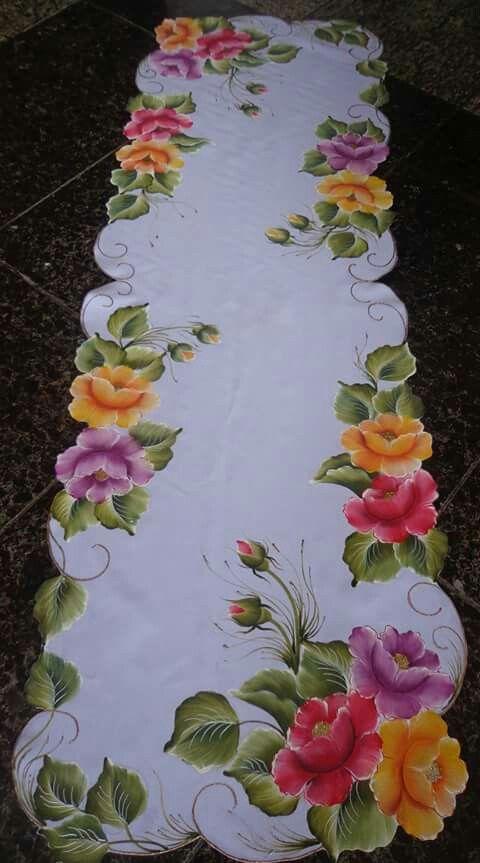 17 melhores ideias sobre pintura em tecido flores no - Pintura en tela motivos navidenos ...