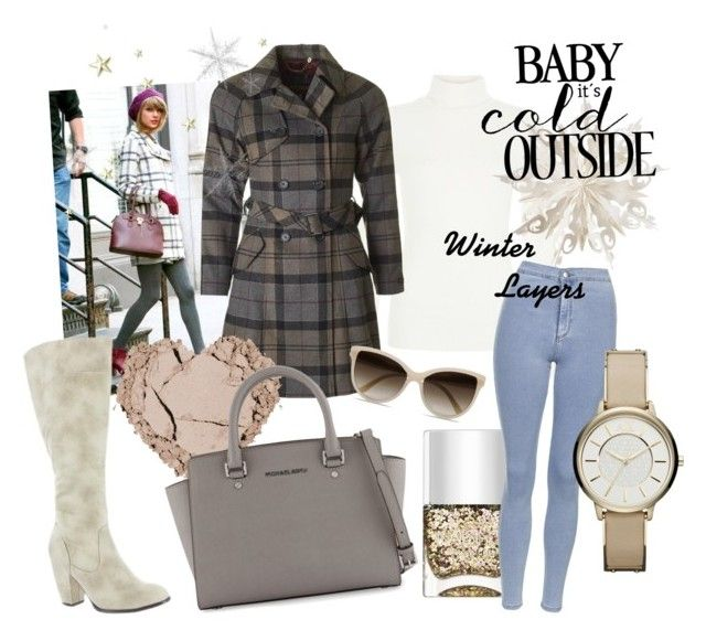 """""""Winter layers trend"""" by laurenleigh-bee ❤ liked on Polyvore featuring Dot & Bo, Barbour, Nails Inc., Topshop, Armani Exchange, Michael Antonio, STELLA McCARTNEY and MICHAEL Michael Kors"""