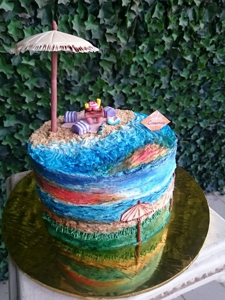 A Customized cake, inspired by Sunset in Canggu, Bali..