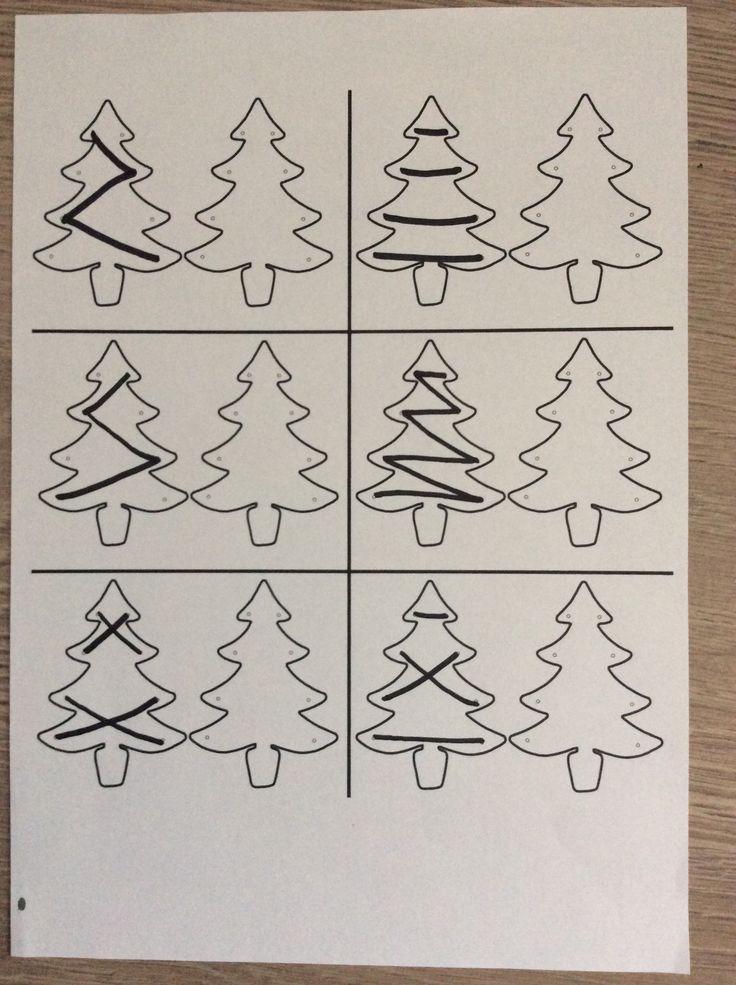 Raamfiguren; hang de slingers in de kerstboom ( rechtshandig ) *liestr*