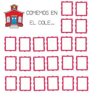 Menta Más Chocolate - RECURSOS PARA EDUCACIÓN INFANTIL: Asistencia al COMEDOR ESCOLAR