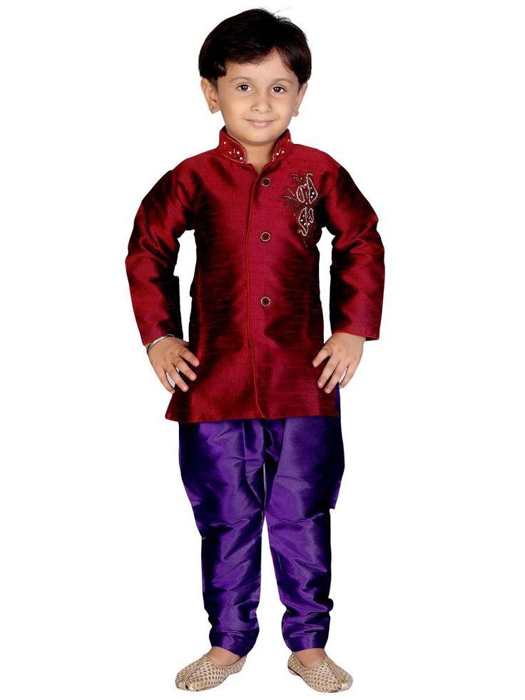 Art Silk Indo Western Item Code: KDEW101B http://www.bharatplaza.com/new-arrivals/kids-wear.html