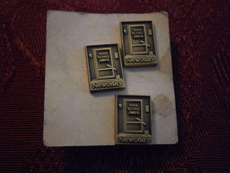3 Newsday Good Service Award Pins Long Island, NY Newspaper