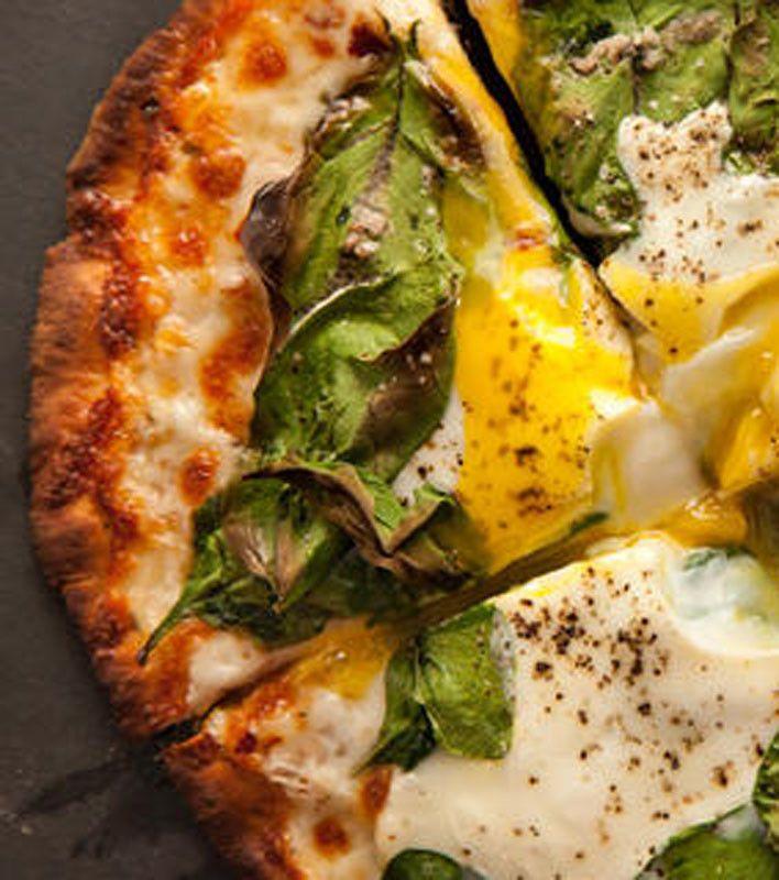 Breakfast Pita-Pizza Recipe - LOOKS YUMMY.  EVEN HEALTHIER ON A GLUTEN FREE CRUST