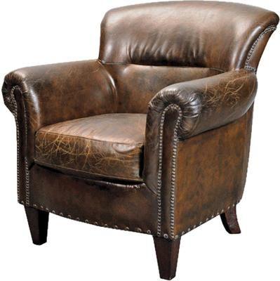 Stark Vintage Brown Leather Armchair