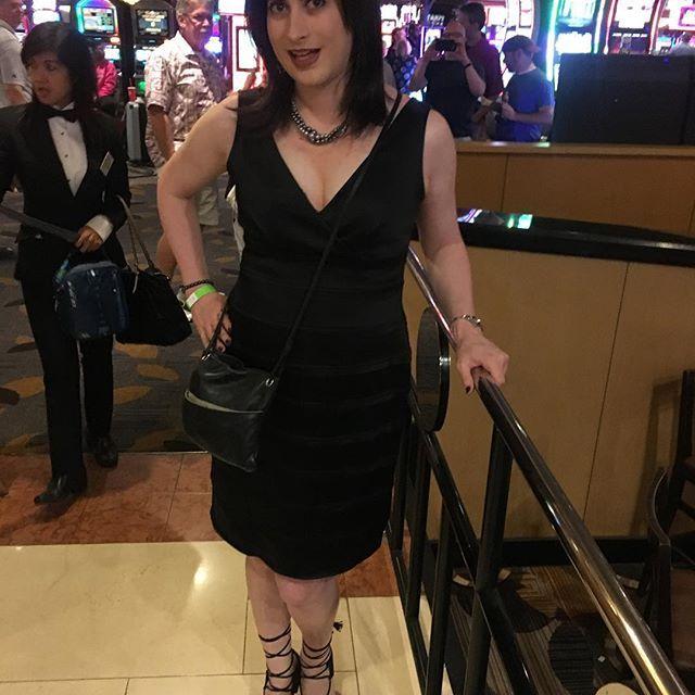 Ready for a night out!!  .  .  #vegas #lasvegas #genderfluid #trans #tgirl #lgbt #girlslikeus #makeup #cute #happy #transgirl #thisiswhattranslookslike #mtf #prehrt #transgender #transpride #transisbeautiful #nyc #newyork
