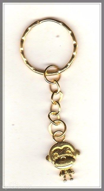 Monkey Charm Gold Plated Keyring  by MadAboutIncense - $7.50