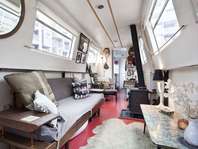 contemporary narrowboat interior - Boat Interior Design Ideas