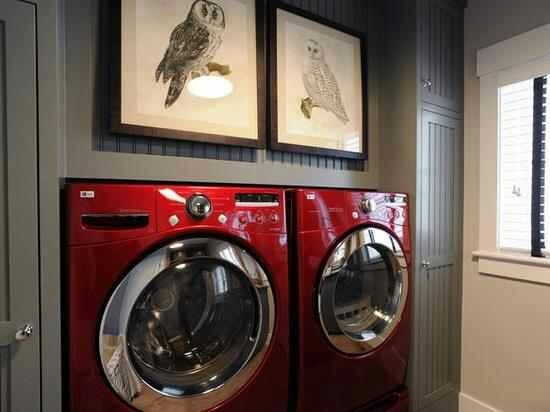 Love The Wall Color With Red Washer And Dryer Beautiful