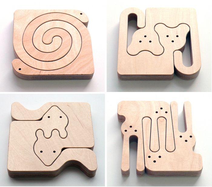 有意思的木頭拼圖 by MedioDesign