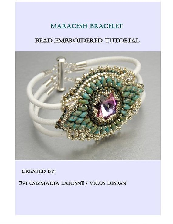 Tutorial pattern bead embroidery beading