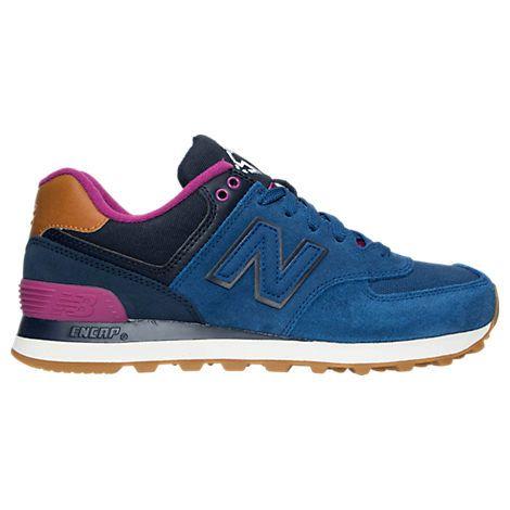 check out 00e04 2034b NEW BALANCE WOMEN S 574 COLLEGIATE CASUAL SHOES, BLUE.  newbalance  shoes      New Balance   New balance shoes, New balance, New balance women
