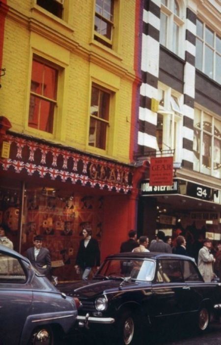 The 'Gear' boutique on Carnaby Street, London England, 1967