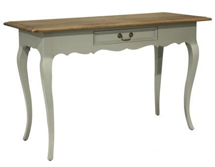 Normandy Writing Table Painted with Oak Top. A Block and Chisel Product.