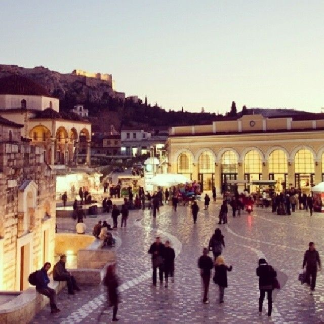 #Monastiraki_Square in the evening...Magical! Photo taken by @Yria Loukoviti