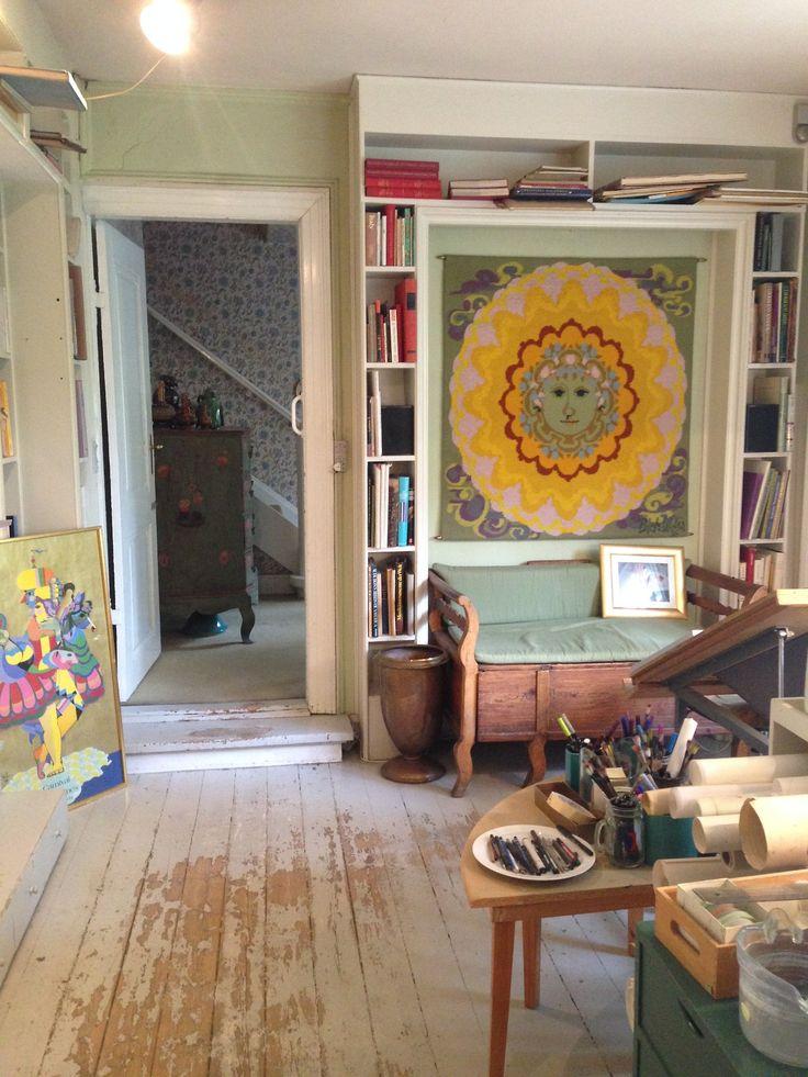 A visit in the private home of Bjorn Wiinblad (1918-2006) - now a museum in Lyngby, North of Copenhagen. Spotted by @missdesignsays #contentcurator #allgoodthingsdanish #danishdesign #maximalism #scandinaviandesign #wiinblad #rosendahl #denmark #scandinavia #interior #hotoffthepress