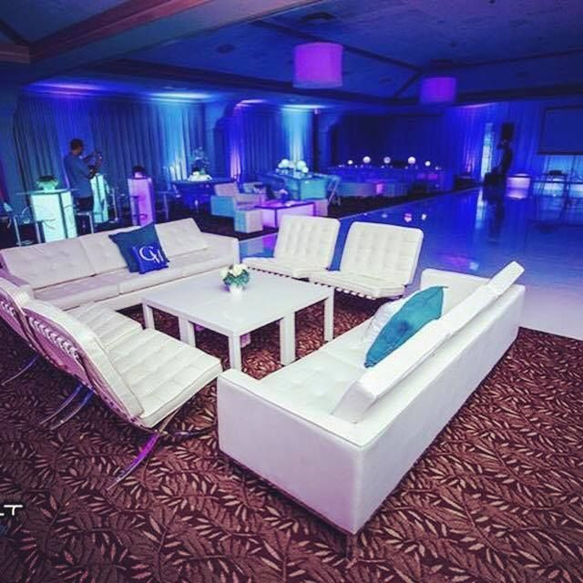 Sleek Modern White Leather Lounge Furniture By Modern Event