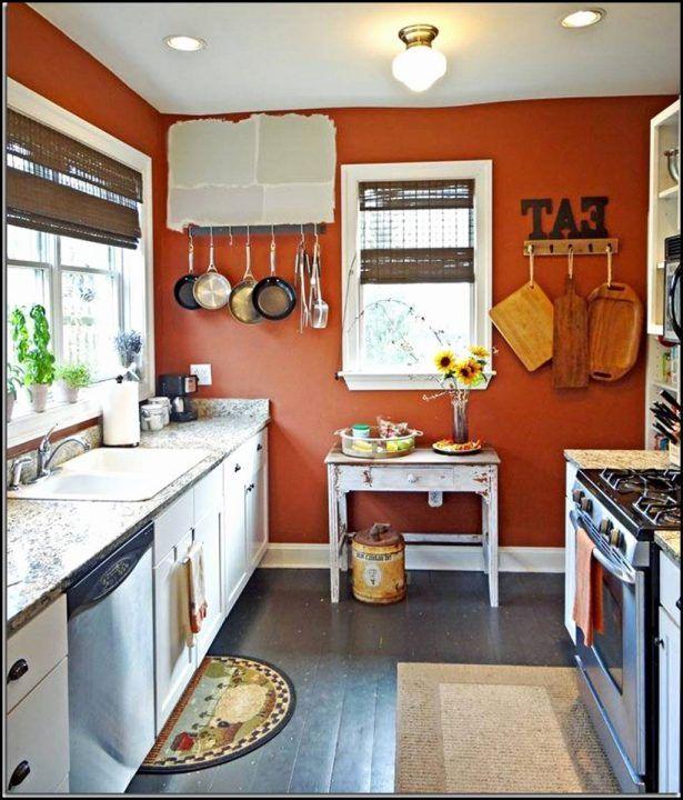 Kitchen:Kitchens Painted Orange Kitchens Painted Orange Small Space