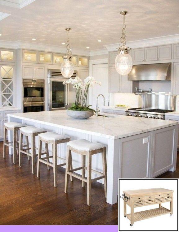 Kitchens With No Island And For Modern Kitchen Islands Modern White Kitchen Island White Modern Kitchen Kitchen Design Small