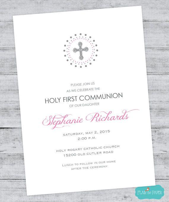 Invitation Baptism Girl is adorable invitations sample