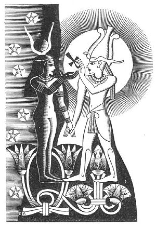 My Celestial Mother, Auset/Isis, and Her Divine Consort, Ausar/Osiris.  May Their Divine Love regin supreme!!!