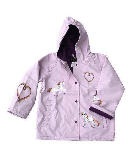 ef512bfacac9 Foxfire Lilac Unicorn Raincoat - Infant