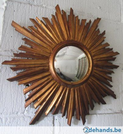 originele houten zonnespiegel zon