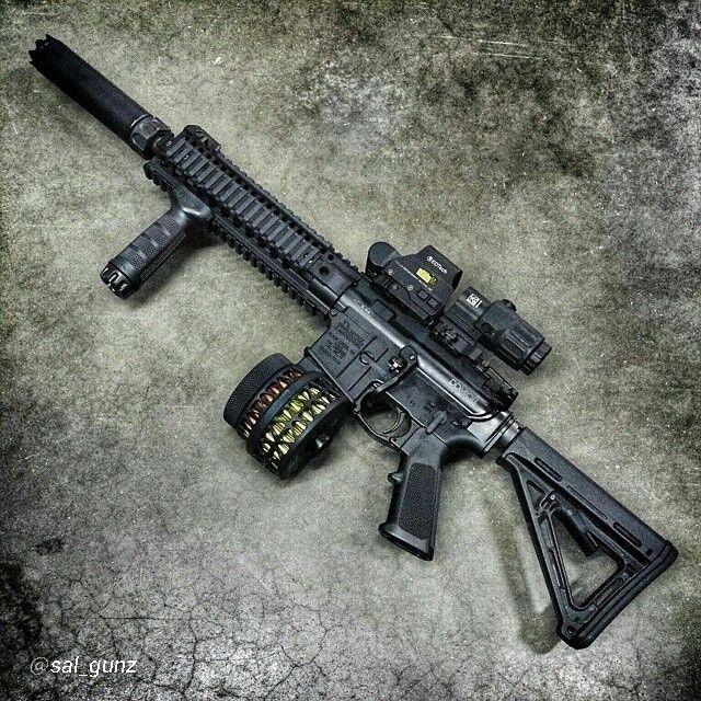 "Sweeeet setup! By @sal_gunz ""@domfather suppressed Daniel Defense MK18  #ar15…Find our speedloader now!  http://www.amazon.com/shops/raeind"